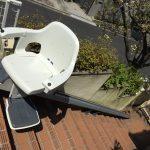 屋外まっすぐ階段用の階段昇降機レバントアウトドア